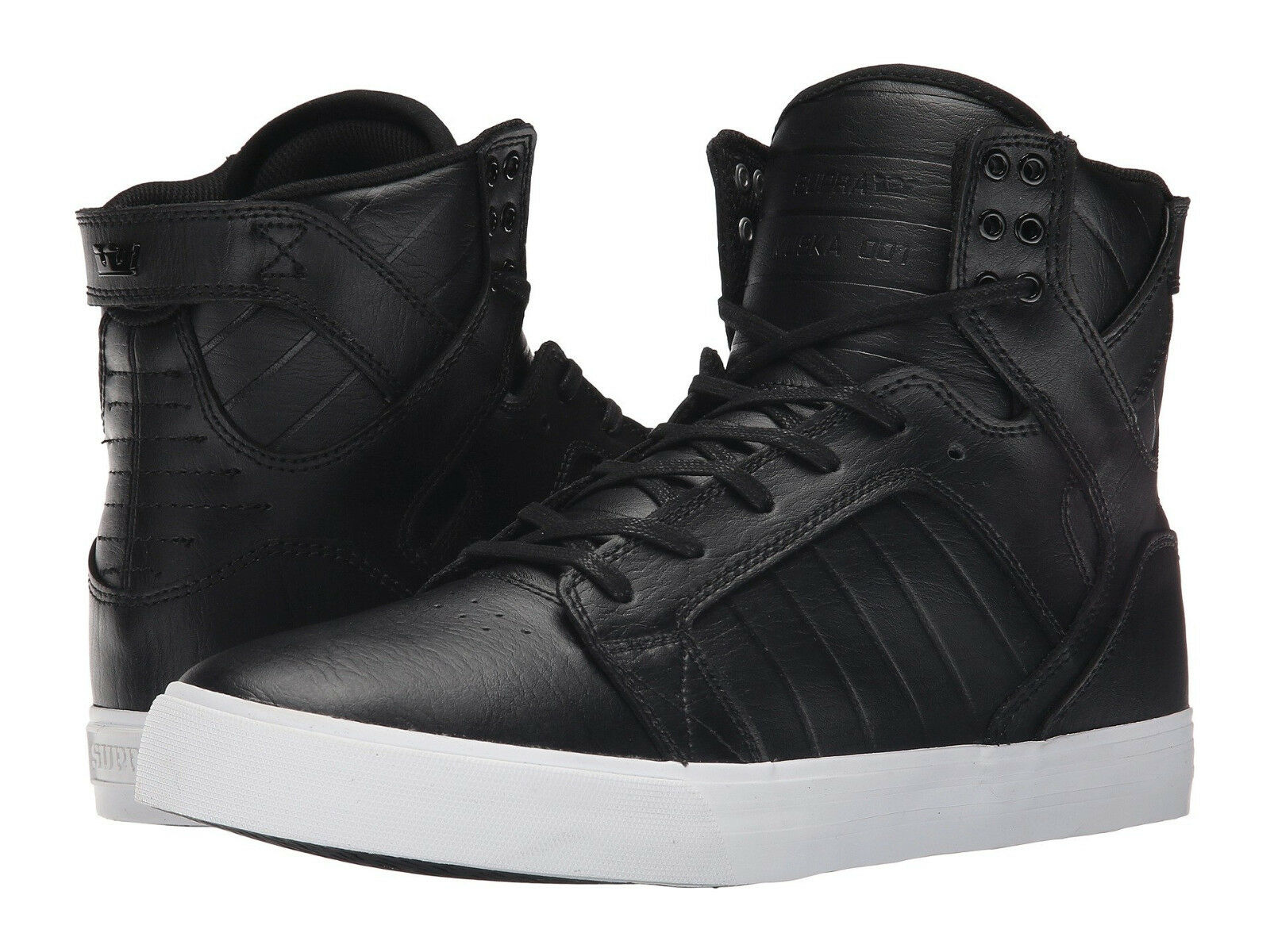 NEW SUPRA SKYTOP schwarz Weiß LEATHER LEATHER LEATHER SURF SNOW MX SKATEBOARD BMX SPORTS schuhe 15 8a23cb