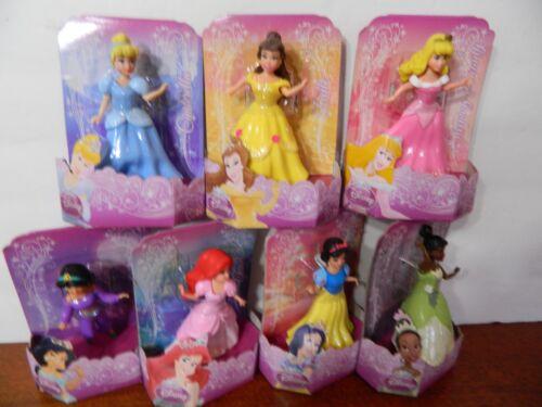 Lot of 7 Disney Princess  Glittering FAVORITE MOMENTS POLLY POCKET SIZE NEW