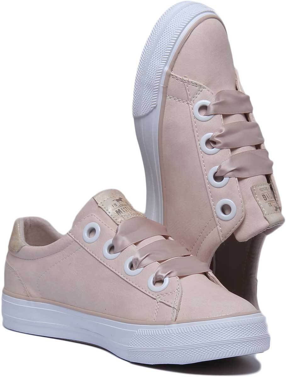 Mustang Mustang Mustang 1272-302 Women Synthetic Leather Apricot Trainers UK Size 3 - 8 df26d9