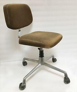 Vintage Bureau Bureau Chaise Chaise Roulettes De Roulettes Chaise De Vintage xBroeWCd