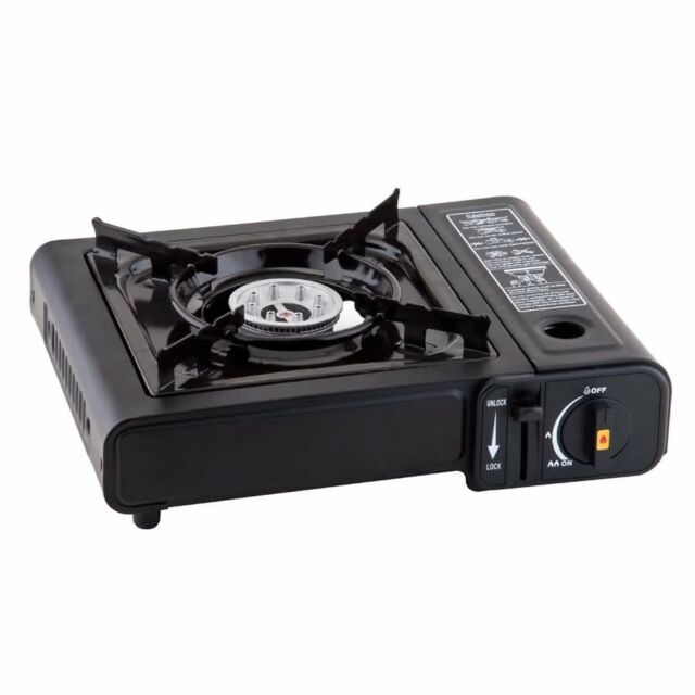 Black CSA Approved GAS ONE GS-3000 Portable Gas Stove with Carrying Case 9,000 BTU