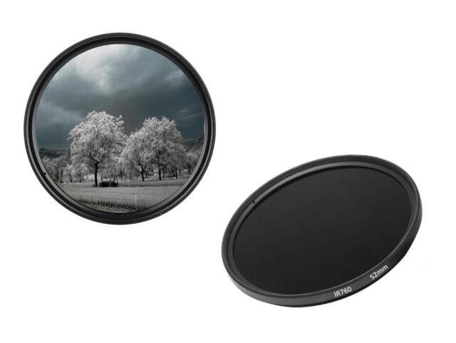 52mm 565nm IR Infrared Long Pass Filter Red Optical Glass