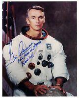 SALE !!! NASA Apollo 17 Astronaut  Gene Cernan Signed Photo White Space Suit WSS