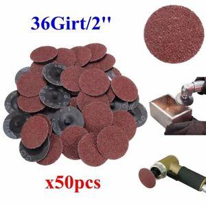 50x-2-034-Schleifscheiben-Fiberschleifscheiben-Klettscheiben-50mm-36-Grit-fuer-ROLOC