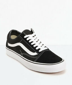 5582cb12ce8494 New Men Vans Old Skool Black Skateboarding Shoes Classic Canvas ...