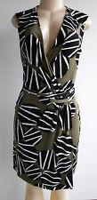 $428.00 Diane von Furstenberg DVF Callista 100% Silk Jersey Wrap Dress Sz 4