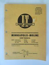 Iampt Tractor Shop Service Repair Manual Minneapolis Moline No Mm 16