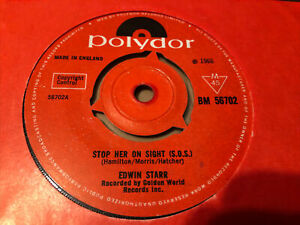 EDWIN STARR -STOP HER ON SIGHT (S.O.S.)1966 POLYDOR  BM 56702 NORTHERN SOUL N//M