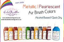 Metallic Edible Colors| Air Brush Cake Decorating| 20 ML| Desert Gold | Ethanol