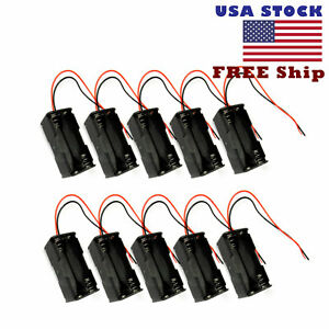 """10pcs Battery Holder Box Case 4 AAA size 6V NiMH NiCd with 6/"""" Wire US Free Ship"""