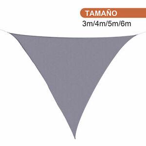 Toldo de Jardín tipo Vela de Sombra Triangular Repelente al agua y Rayos UV Tela