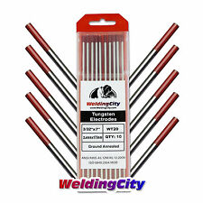 "10-pk TIG Welding Tungsten Electrode 2% Thoriated (Red) 3/32""x7"" US Seller Fast"