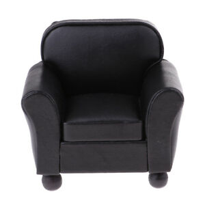 Details about 1/12 Dollhouse Single Sofa Armchair Leather Couch Living Room  Furniture