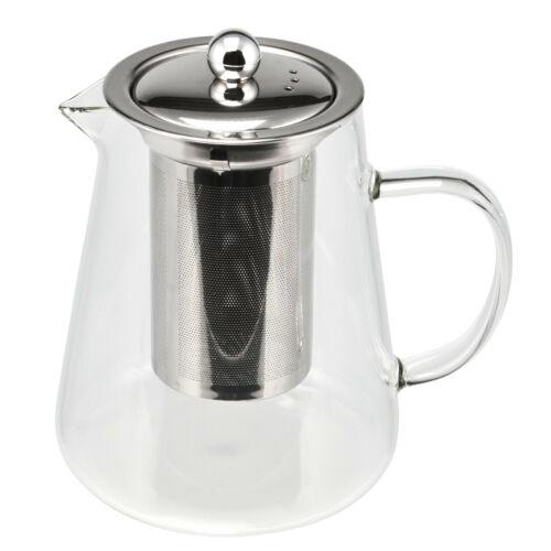 mit Glasgriff Dauersieb bremermann Glas-Teekanne mit Siebeinsatz