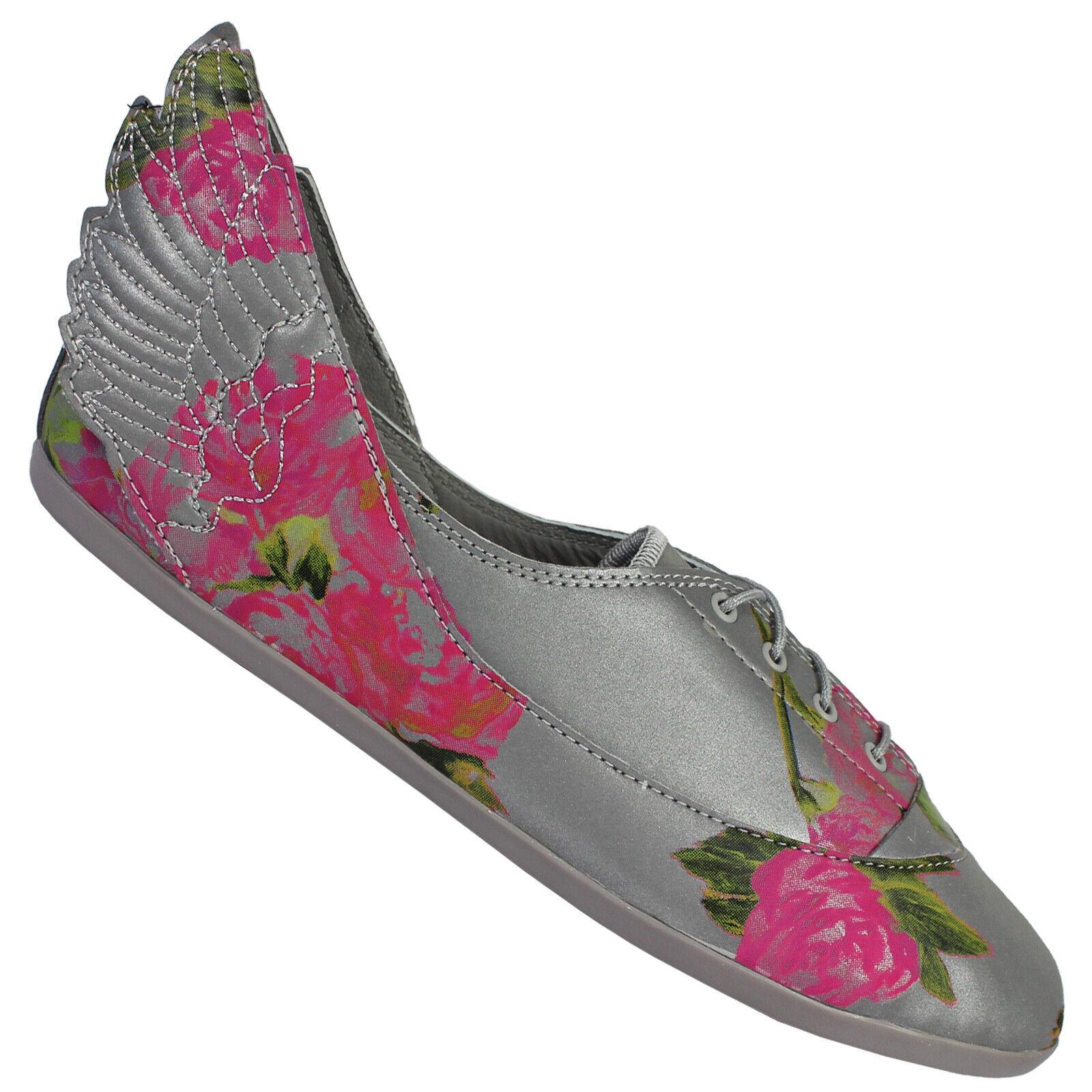 adidas Originals JS Jeremy Scott Wings Easy5 Floral Ballerina Schuhe Grau Blaumen