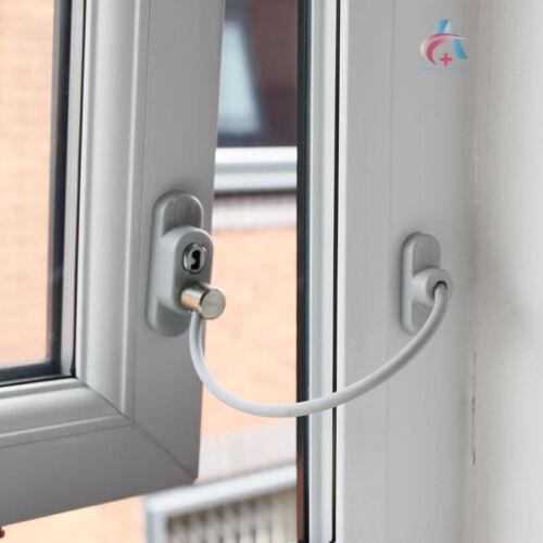 Max6mum Sécurité Bébé//Enfant Sécurité Câble verrouillable fenêtre Bride-Blanc