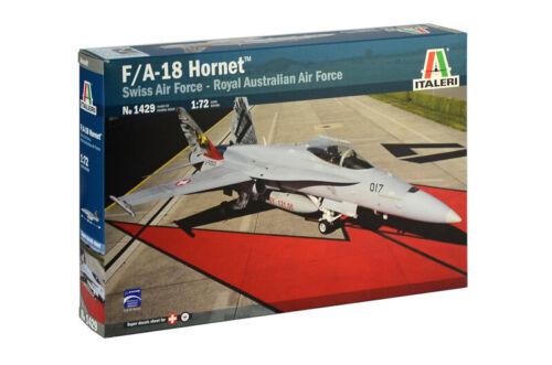 Italeri 1429 McDonnell-Douglas F-18 Hornet Swiss Air Force and RAAF 1:72