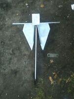 Light Weight Danforth / Fluke Galvanized Anchor 5.5kg / 13lb