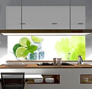 Details zu Küchenrückwand SP648 Limette Acrylglas Spritzschutz  Fliesenspiegel Küche Paneel