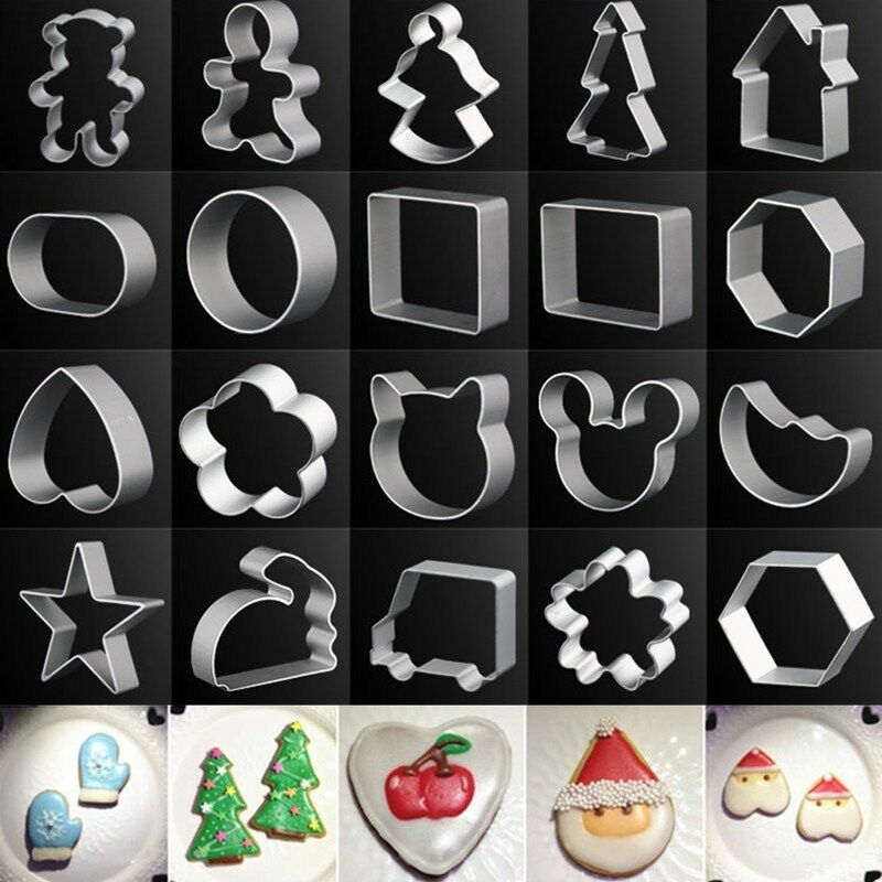 Metal Aluminum Biscuit Pastry Cookie Cutter Sugar Cake Decor Baking Mould Tool 2