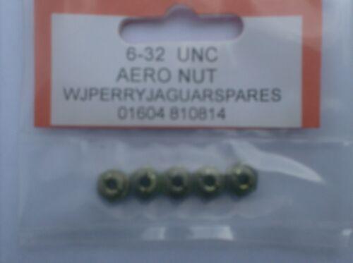 6-32 UNC AERO NUTS x 5