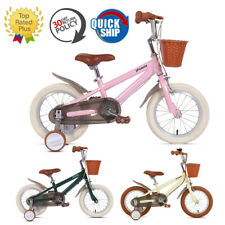 14 16 18 Inch Kids Bike With Training Wheels Gentle Green For Ages 3-12 Children