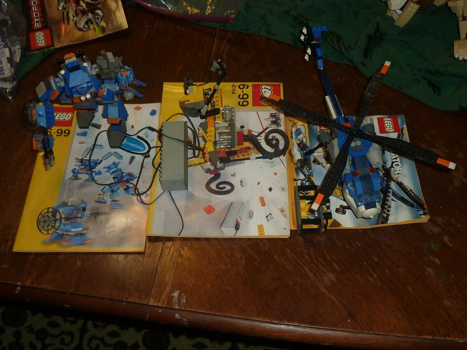 Lot of 3 3 3 Lego Creator Sets 4094 4995 4099 Robot Monkey Helicopter Carrier 631071