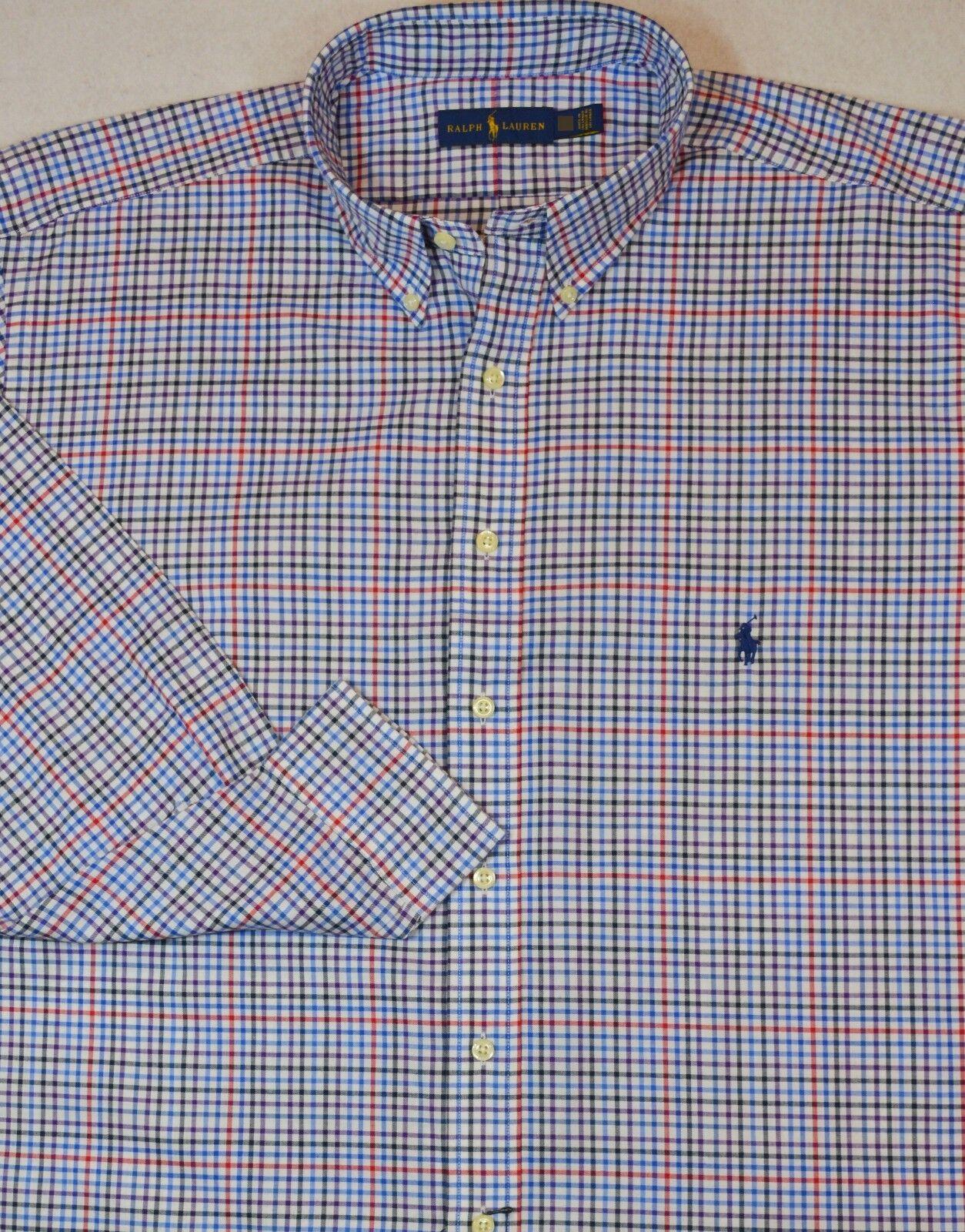 Ralph Lauren Plaid Button Front Brushed Shirt 2XLT 2XL Tall NWT