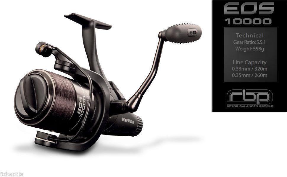 FOX EOS CARP 10000 SPECIALIST FISHING REEL 5.5:1 CARP EOS SPECIMEN CRL059 - NEW 86f695