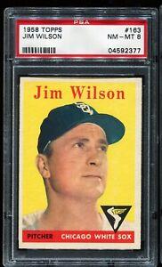 1958-Topps-Baseball-163-JIM-WILSON-Chicago-White-Sox-PSA-8-NM-MT