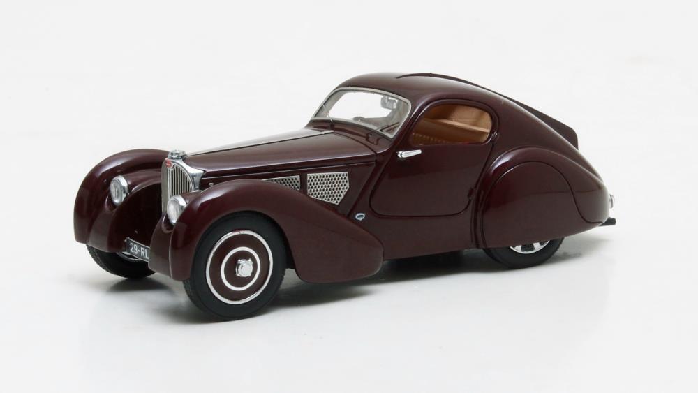 Bugatti Type 51 Dubos Coupé  Maroon  1931 (Matrix 1 43   MX40205-041)