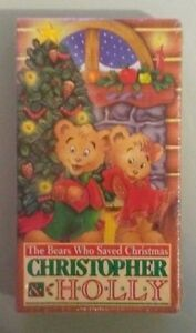 The Bears Who Saved Christmas.Details About Christopher Holly The Bears Who Saved Christmas Vhs Videotape New Shrink Wear