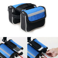 New Cycling Bicycle Bike Trame Pannier Rain Cover Front Tube Bag