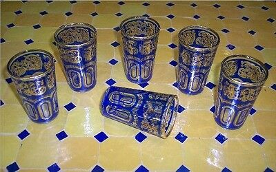 Moroccan Tea Glasses Drinking Serving Mint Tea Pot TumblersTurkish Middle East 6
