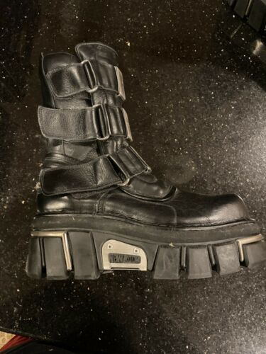 Used New Rock Boots Size 44