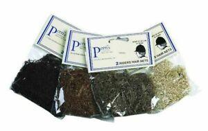 (quantité 2) Perri's English Horse Show Filet à Cheveux Casque-noir-afficher Le Titre D'origine