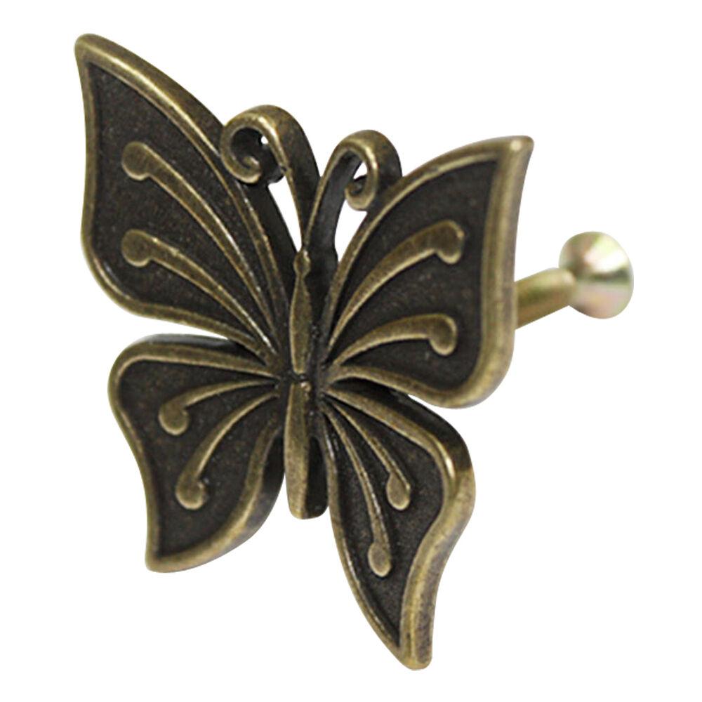 10 pcs Bronze braun Metal Butterfly Decor Knobs Cabinet Drawer Handles HHY-202