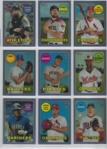 2018-TOPPS-HERITAGE-HIGH-NUMBER-PURPLE-REFRACTOR-COMPLETE-YOUR-SET-18-THC-1-3