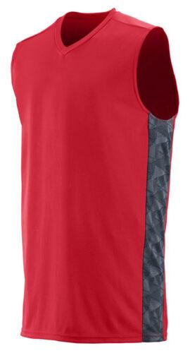 1720 Augusta Sportswear Men/'s V Neck Sleeveless Fast Break Game Jersey T-Shirt