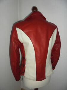 vintage-Motorradjacke-Lederjacke-70s-biker-motorcycle-oldschool-jacket-SMALL