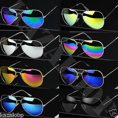 Forma Pilota Unisex Metallo Plastica Telaio Occhiali da sole Rosa Specchio Lente UV400