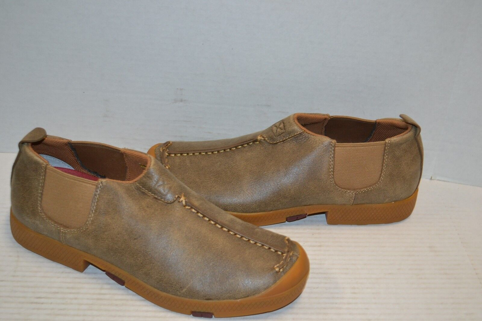 Twisted X Mens MCA0011 Bomber Leather Driving MOCS Casuals for Cowboys SZ 9 M