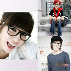 Large Square Clear Lens Big Black Frame Eye Glasses Spectacles