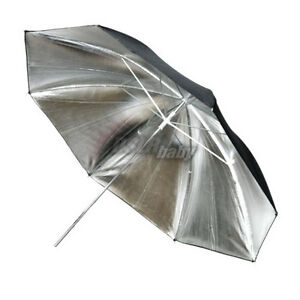 33-83cm-Photography-Studio-Umbrella-Flash-Speedlite-Light-Control-Silver-Black