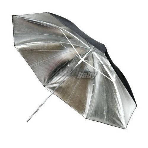 33'' 83cm Photography Studio Lighting Umbrella Flash Light Control Silver Black