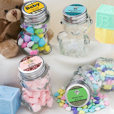 Clear FAVORS HOLDERS 6 oz PLASTIC Favor Mini JARS Baby Shower Party Decorations
