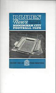 Birmingham-City-v-Sheffield-United-Football-Programme-1961-62