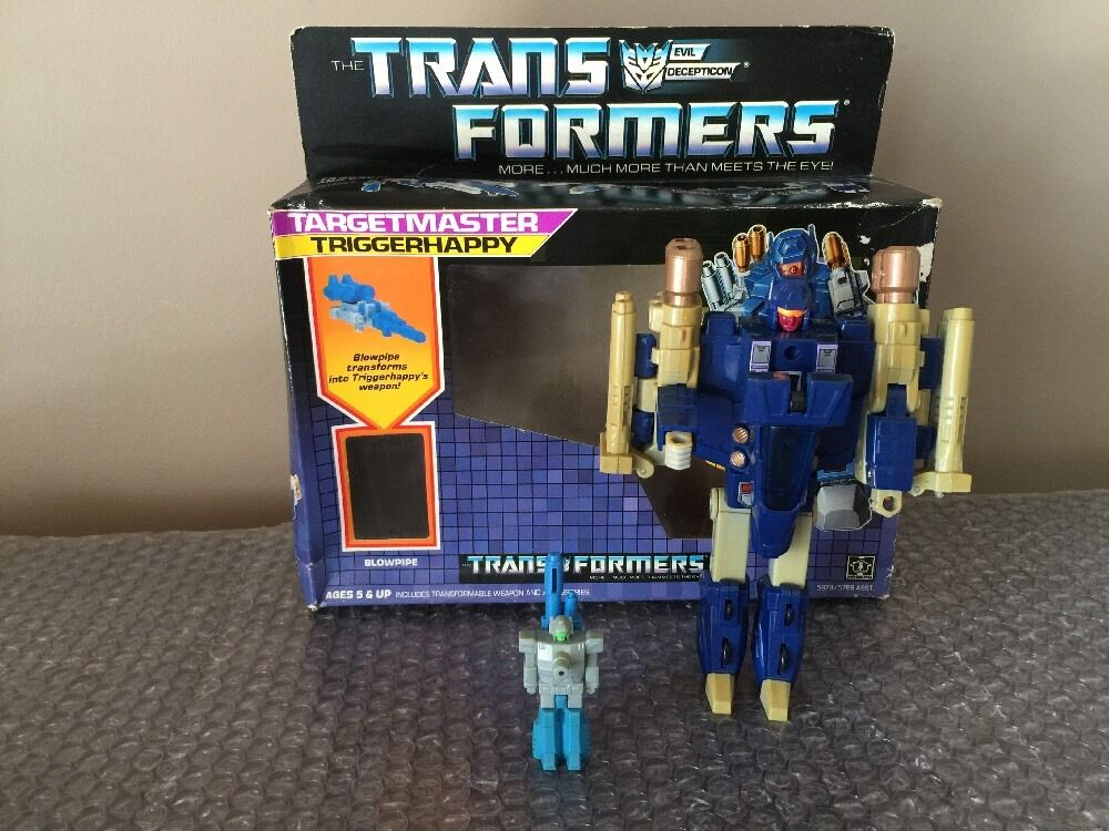 Hasbro Transformers Targetmaster triggerhappy Loose complet avec chalumeau 1986 G1