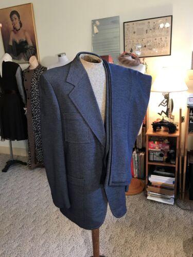 Vtg.Knit Leisure Suit Men's Tailored BENNETT OF NE
