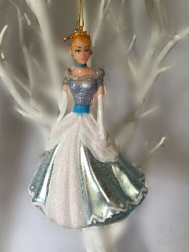 Princesse de conte de fee Suspendu Verre Arbre de Noël décoration Cendrillon Rose Bleu